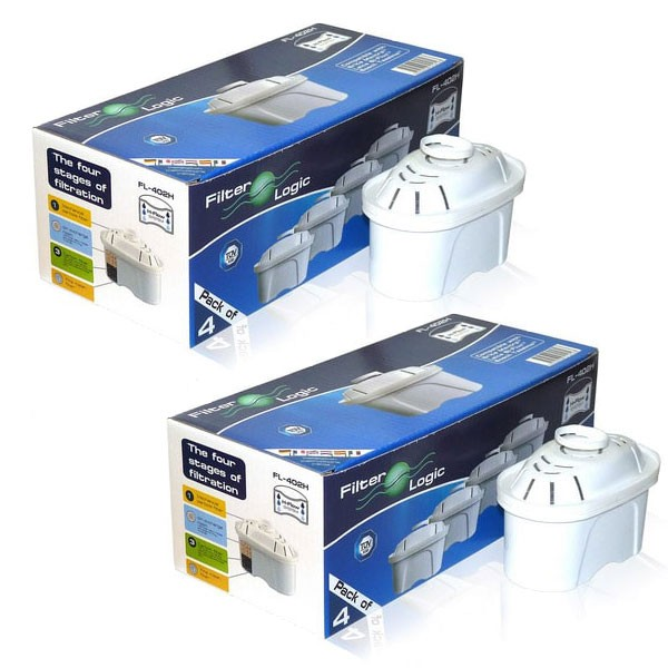 Pack 8 filtros de Agua para jarra Brita tipo Maxtra