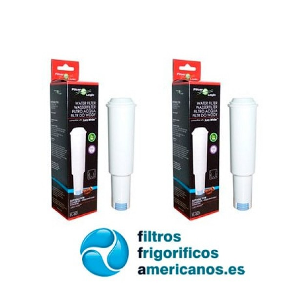 Pack 2 filtros de Agua cafetera Jura, Jura Claris White