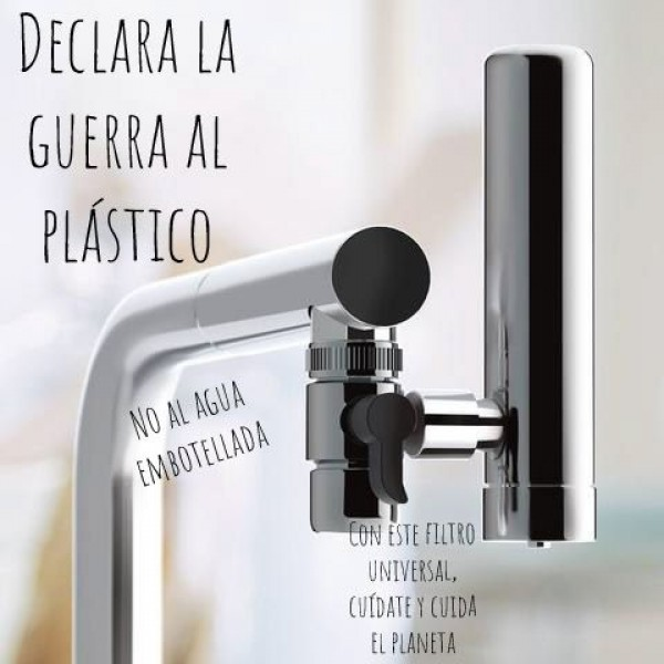 Filtra hasta 3000 litros con cada cartucho intercambiable y biodegradable