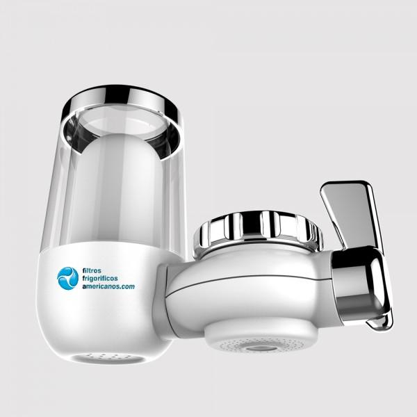 Filtro de agua universal para el grifo. Tecnología KDF. Transparen