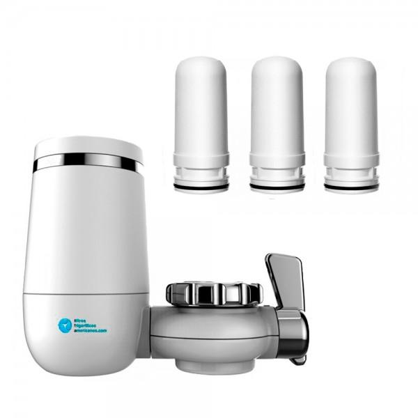 Filtro KDF blanco de agua para grifo + 3 recambios