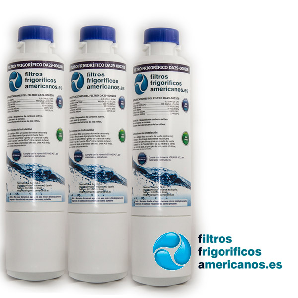 pack tres filtros compatibles samsung french door da2900020b - Da2900020b