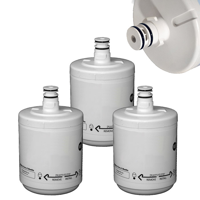 Pack tres filtros frigorifico lg 500P compatible